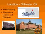 location stillwater ok