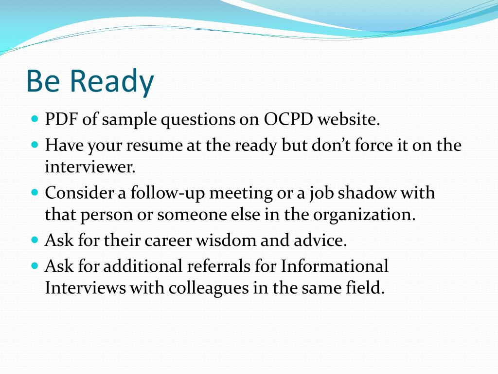 PPT - Informational Interviewing PowerPoint Presentation - ID:2734875