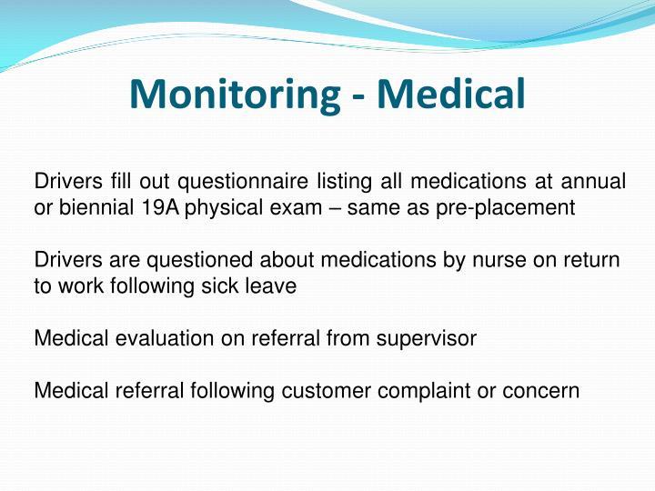 Monitoring - Medical