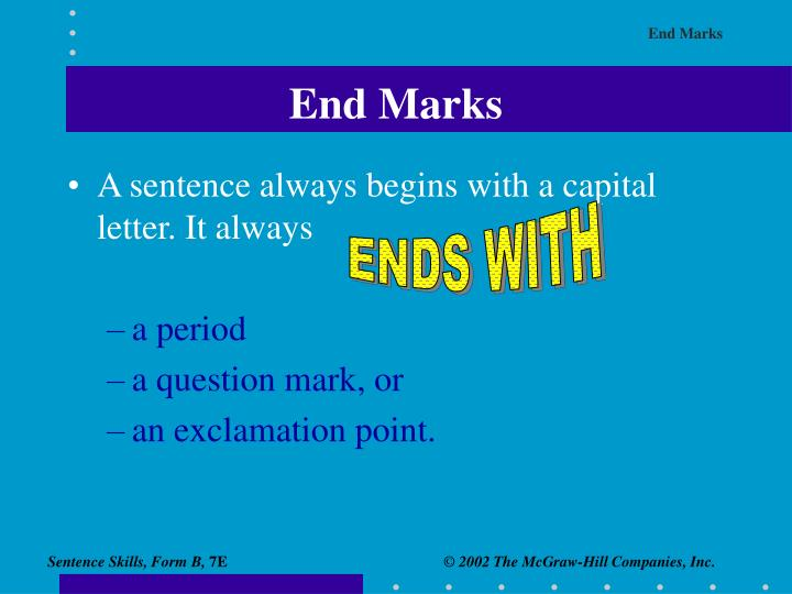 End marks1