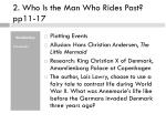 2 who is the man who rides past pp11 17