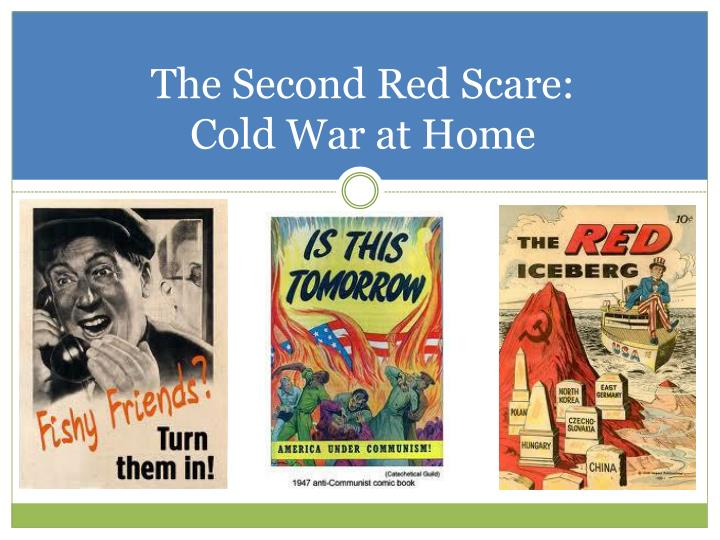 the second red scare essay The red scare the red scare was a growing fear of communism in america that was most prevalent after each of the world wars being.