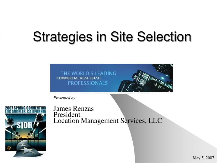strategies in site selection