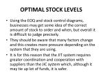 optimal stock levels1