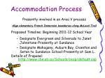 accommodation process
