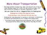 more about transportation