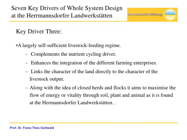 Seven Key Drivers of Whole System Design at the Herrmannsdorfer Landwerkstätten