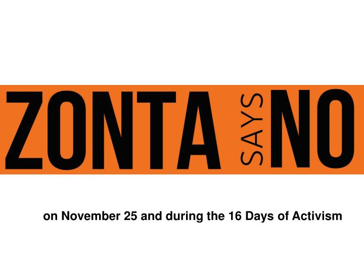 on November 25 and during the 16 Days of Activism