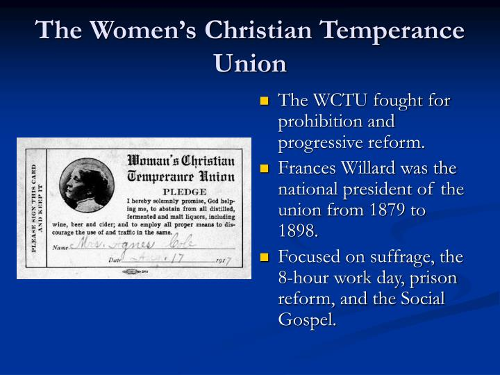 temperance single christian girls In the 1880s it worked on creating legislation to protect working girls woman's christian temperance union the manchester women's christian temperance.