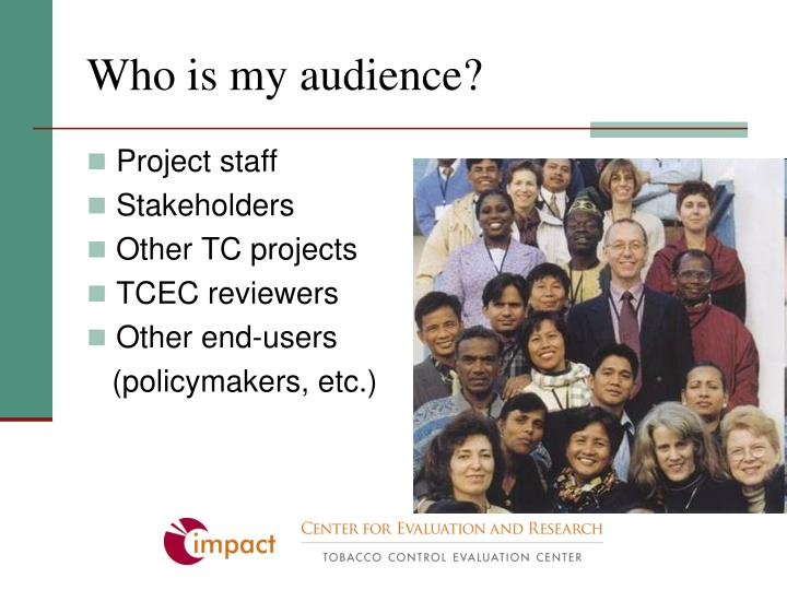 Who is my audience?