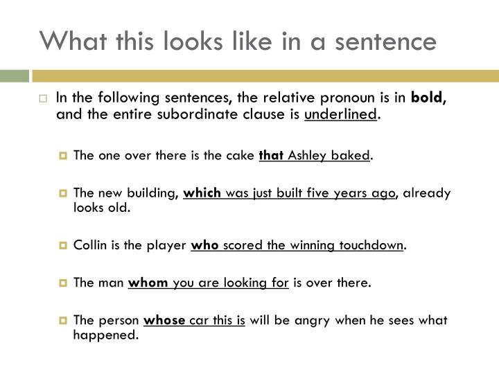 What this looks like in a sentence