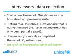 interviewers data collection