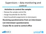 supervisors data monitoring and control