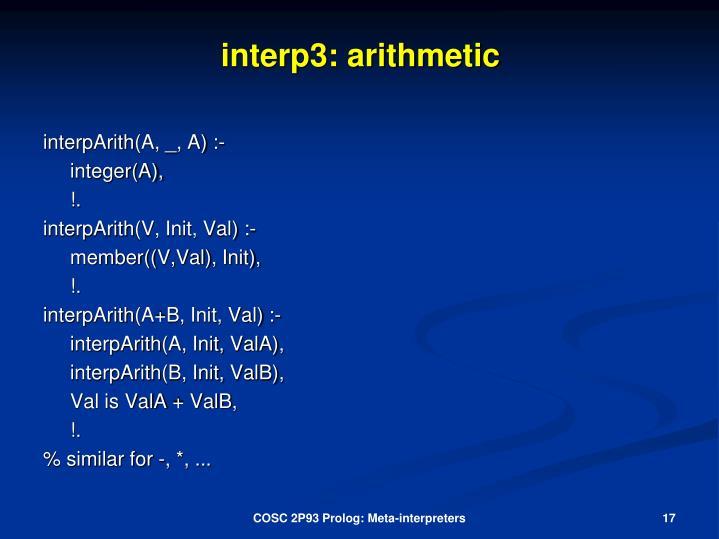 interp3: arithmetic