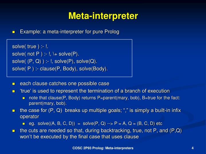 Meta-interpreter