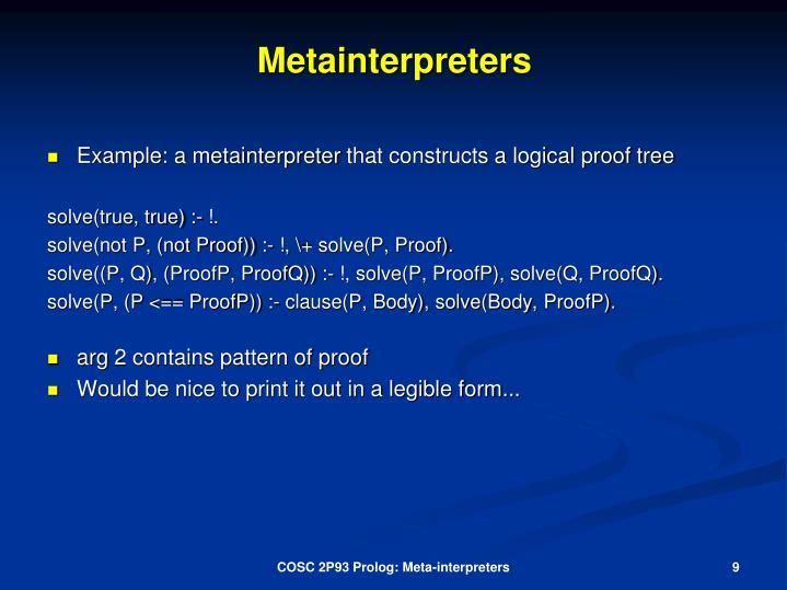 Metainterpreters