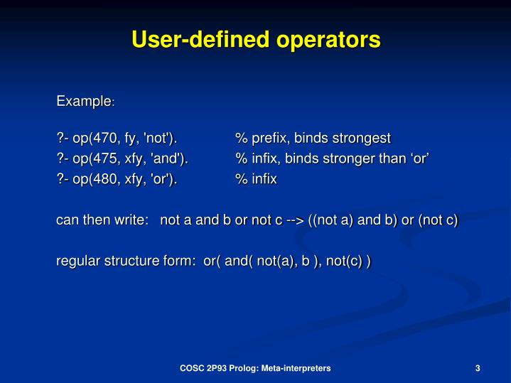 User defined operators1