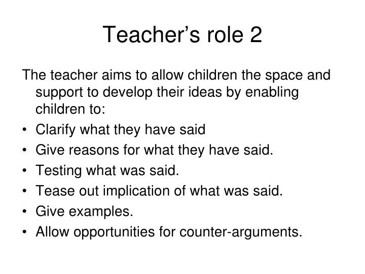 Teacher's role 2