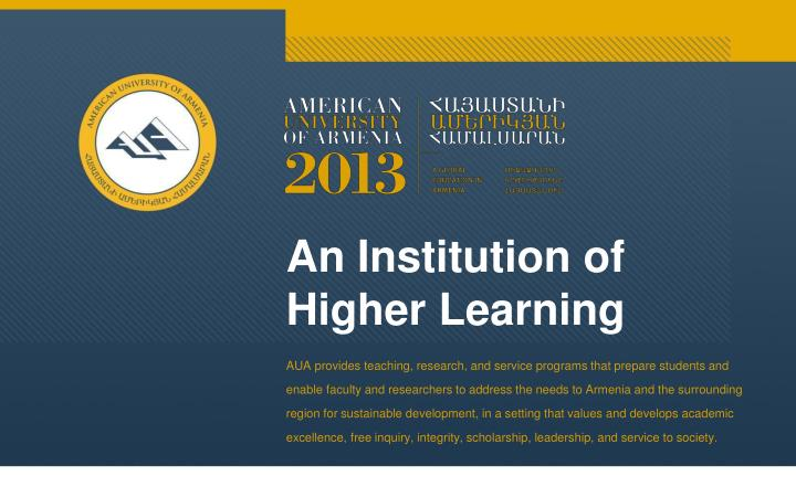 an institution of higher learning n.