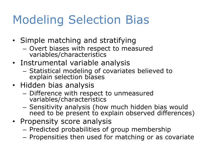 Modeling Selection Bias