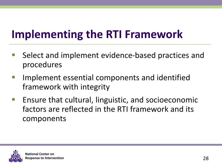 Implementing the RTI Framework