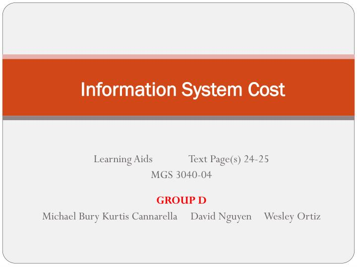 Information system cost