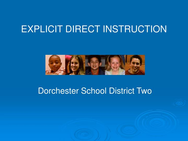 Ppt Explicit Direct Instruction Powerpoint Presentation Id2735851