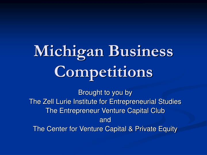 michigan business competitions n.