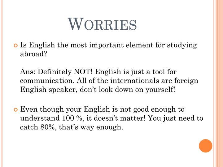 Worries