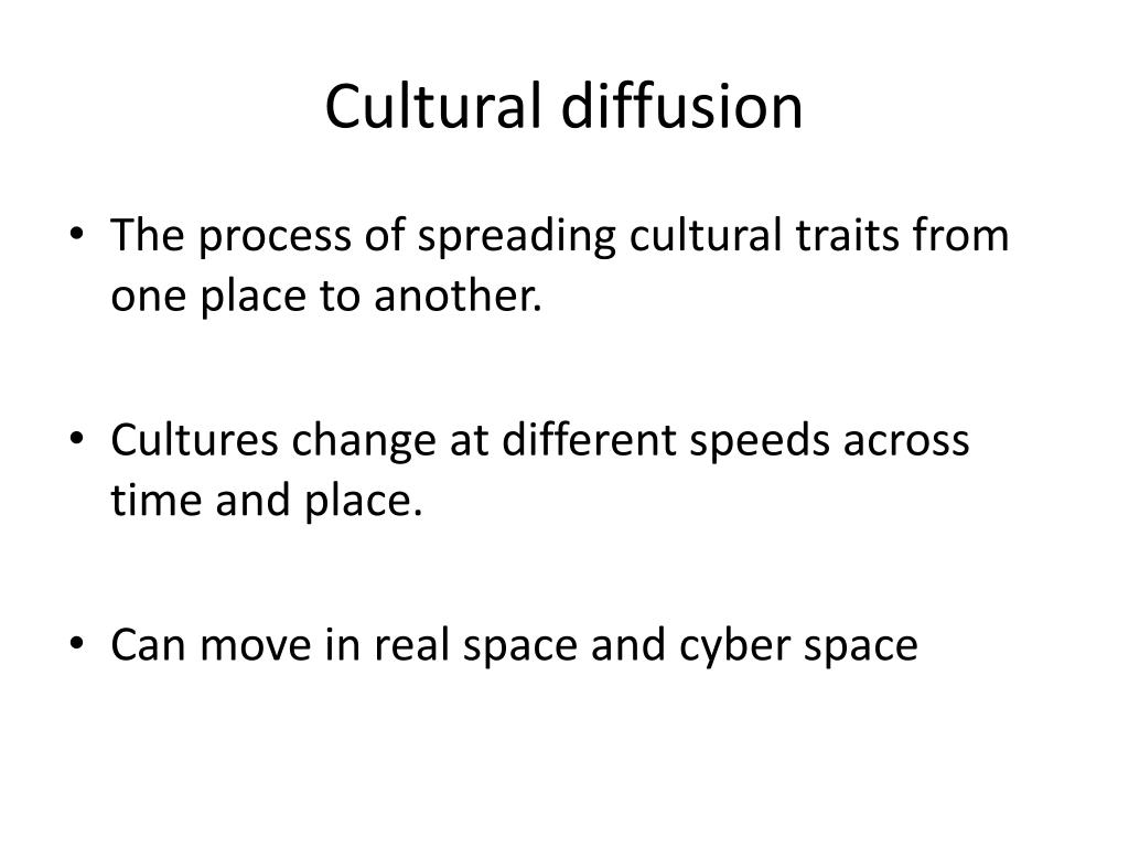 what is the cultural diffusion