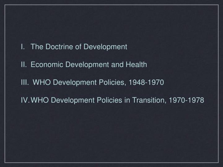 The Doctrine of Development