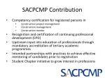 sacpcmp contribution