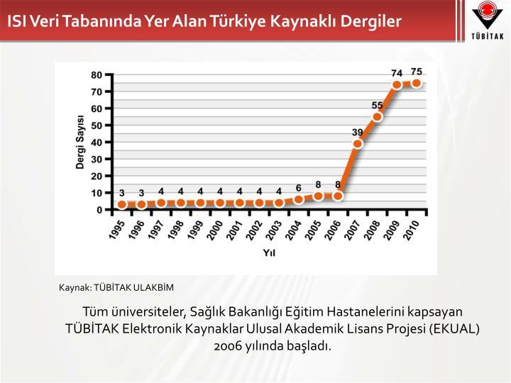ISI Veri Tabanında Yer Alan Türkiye Kaynaklı Dergiler