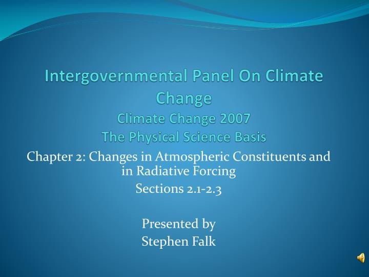 intergovernmental panel on climate change climate change 2007 the physical science basis n.