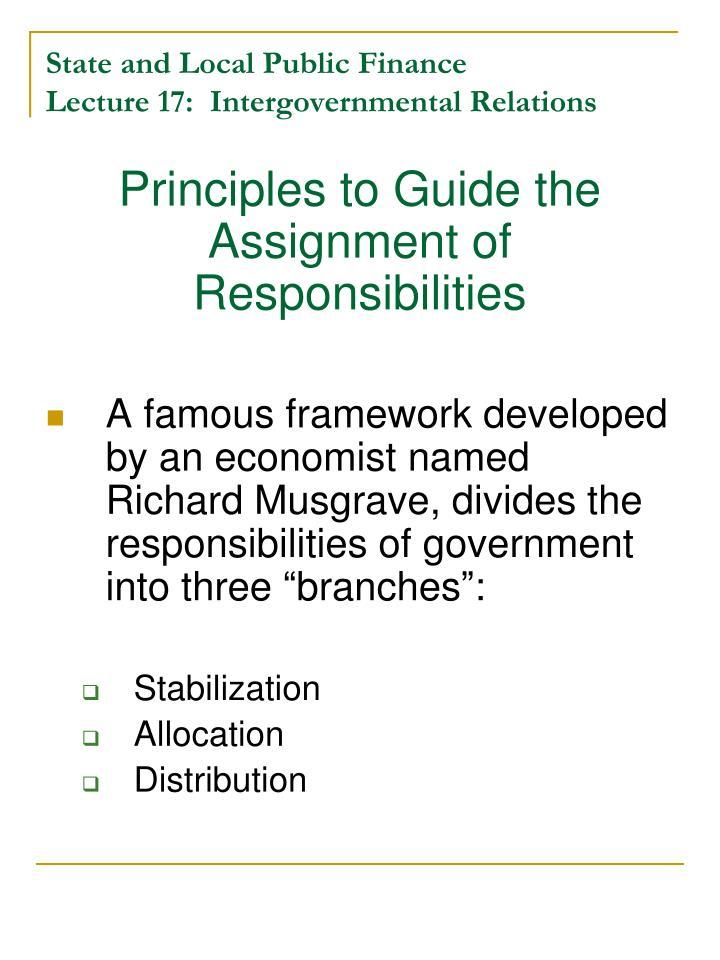 public finance branches