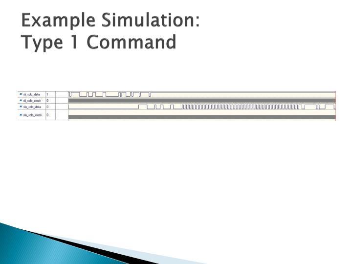 Example Simulation: