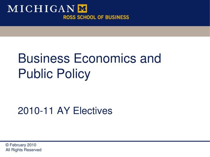 business economics and public policy