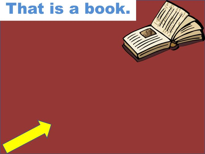 That is a book.