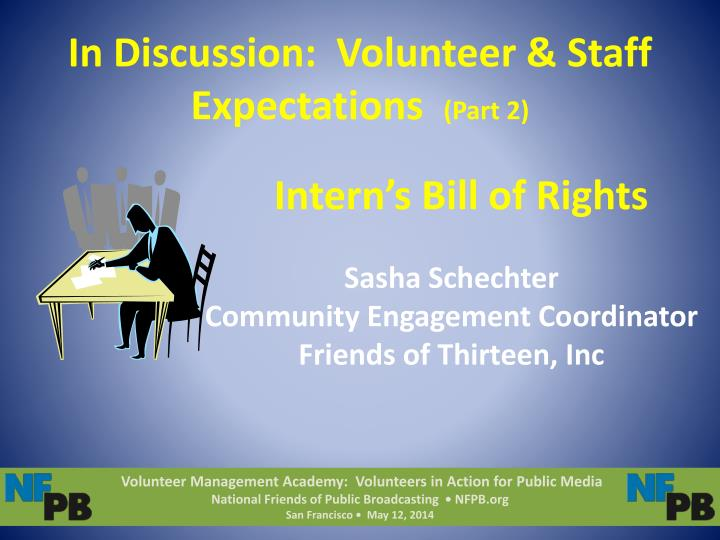 in discussion volunteer staff expectations part 2 n.