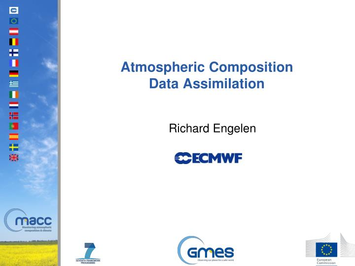 atmospheric composition data assimilation n.