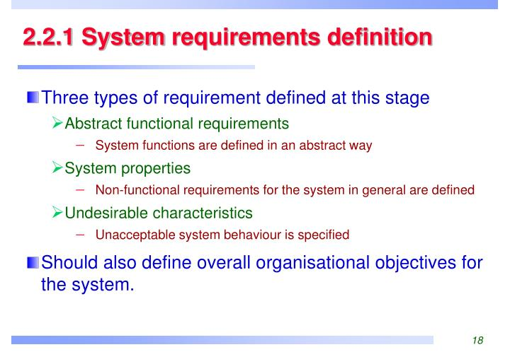 2.2.1 System