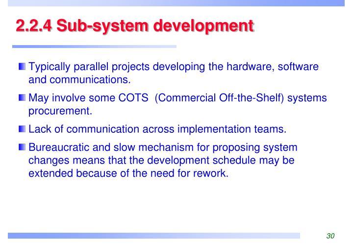 2.2.4 Sub-system