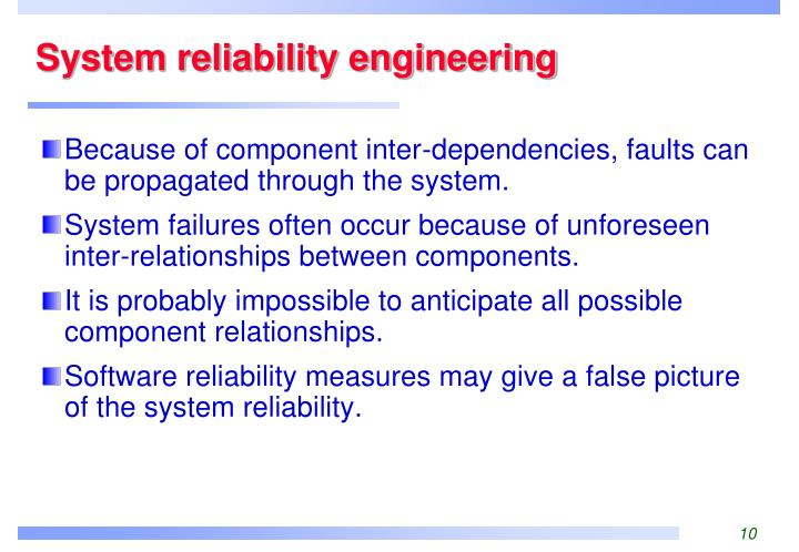 System reliability engineering
