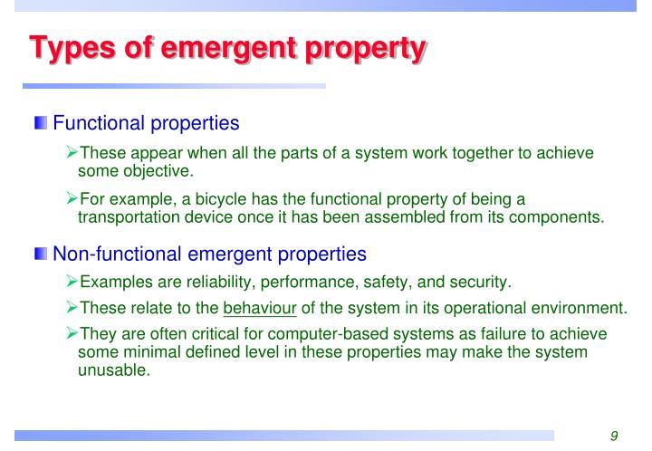 Types of emergent property