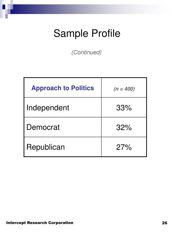 Sample Profile