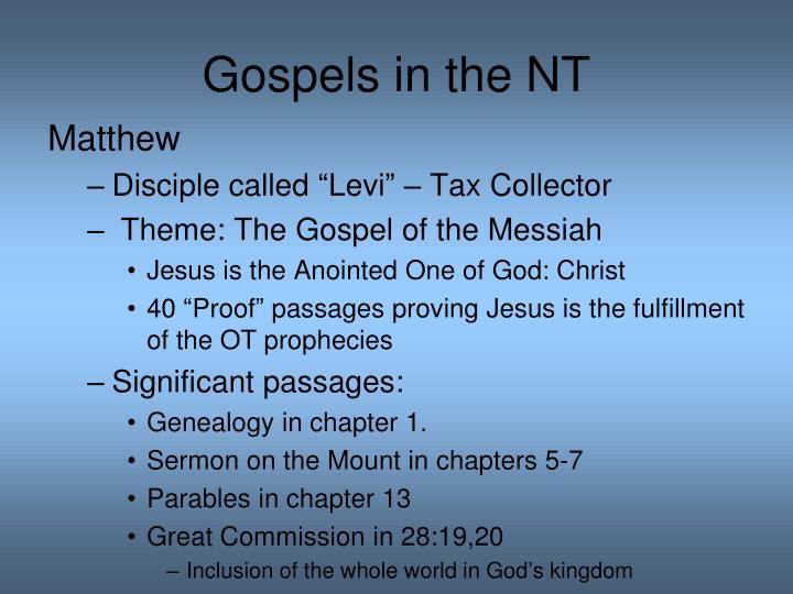 Gospels in the NT