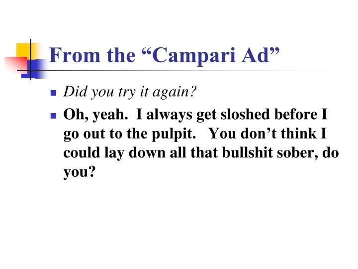 "From the ""Campari Ad"""