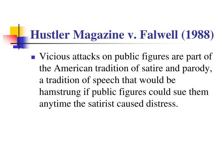Hustler Magazine v. Falwell (1988)