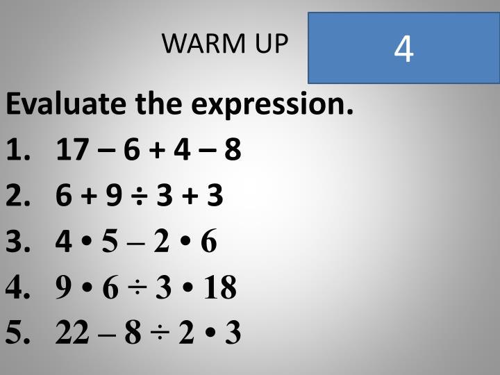 Warm up1