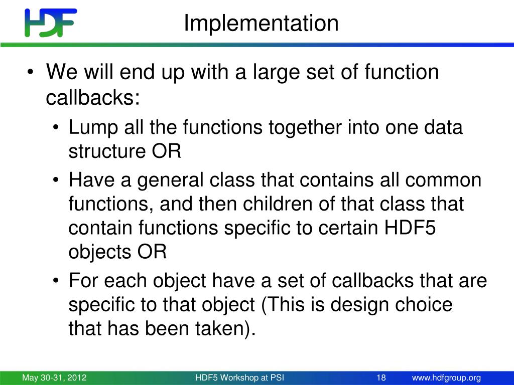 PPT - Virtual Object Layer in HDF5 PowerPoint Presentation